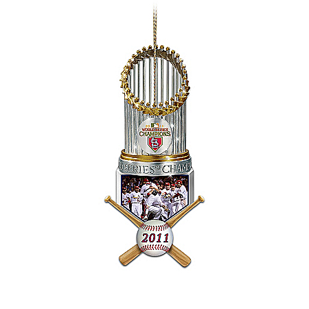 St. Louis Cardinals MLB 2011 World Series Champions Christmas Ornament Collection