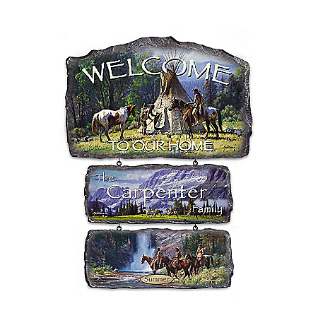 Sacred Seasons Personalized Native American-Inspired Wall Decor Collection