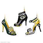 NFL Green Bay Packers Steppin' Out Stiletto Shoe Ornament Collection