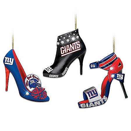 NFL New York Giants Steppin' Out Stiletto Shoe Ornament Collection