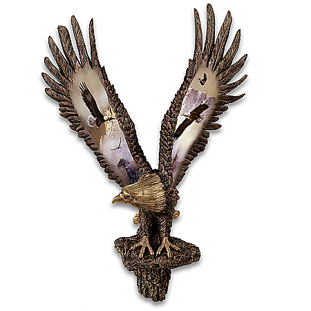 Cold-Cast Bronze Bald Eagle Wall Sculpture Collection: Majestic Summits