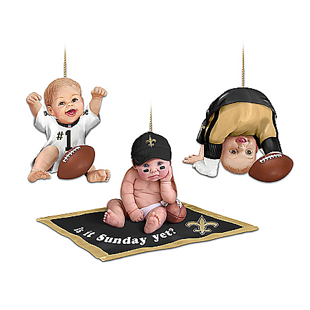 NFL New Orleans Saints Baby Ornament Collection: Born To Be A Saints Fan
