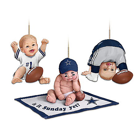 NFL Dallas Cowboys Baby Ornament Collection: Born To Be A Cowboys Fan