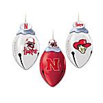 Nebraska Cornhuskers FootBells Ornament Collection