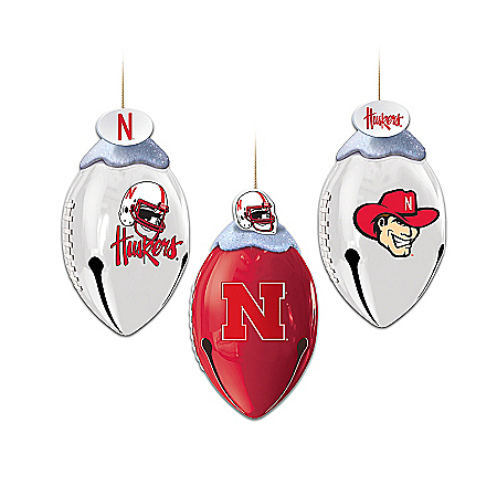 Nebraska Cornhuskers FootBells Ornament Collection