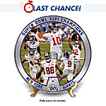 The New York Giants 2012 Super Bowl Champions Plate Collection