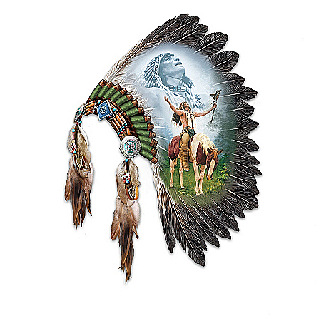 Native American Collectibles Native American-Inspired Feather Wall Decor Collection: Spirits Of The Warrior