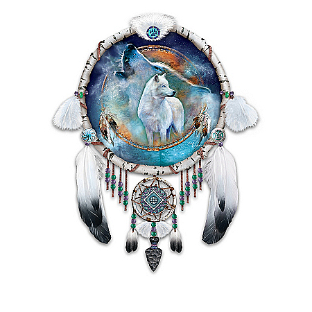 Native American Inspired Dreamcatcher Collector Plate Collection: Vision Of The Spirits