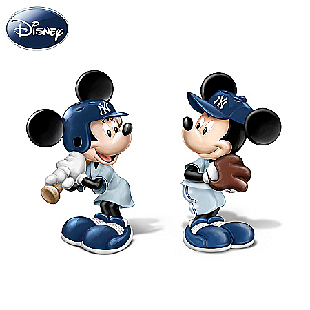 Disney Spicing Up The Season Yankees Salt And Pepper Shaker Collection Featuring Mickey And Minnie
