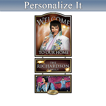 Wall Decor: Elvis Presley Personalized Welcome Sign Wall Decor Collection