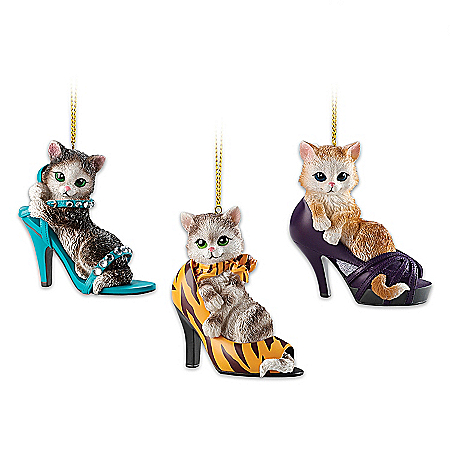 Sassy Cat-itudes Ornament Collection: Celebrate Fashion, Flair And Feline Fun