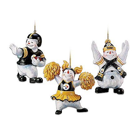 "The Pittsburgh Steelers ""Coolest Fans"" Ornament Collection"