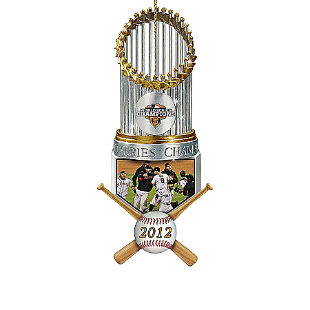 2012 MLB World Series Champions San Francisco Giants Trophy Ornament Collection