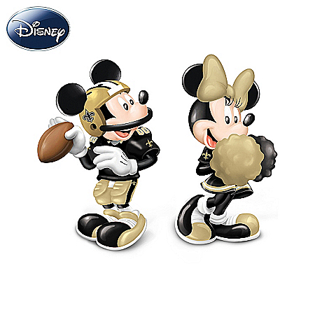 Salt And Pepper Shakers: Disney New Orleans Saints Spicing Up The Season Salt And Pepper Shaker Collection