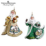 Thomas Kinkade Santa Claus Christmas Tree Ornament Collection: Sugar-Coated Santas