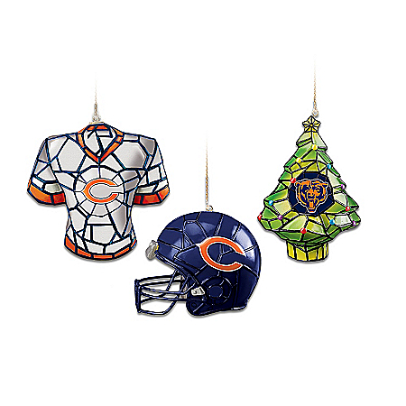 NFL Chicago Bears Gridiron Glow Ornament Collection