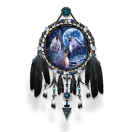 Wolf Dreamcatcher Collector Plate Collection: Sacred Spirit