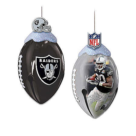 Oakland Raiders FootBells Ornament Collection