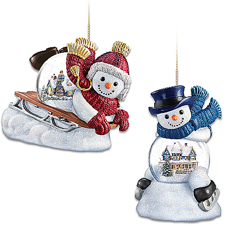 Ornaments: Thomas Kinkade Snow Wonderful Ornament Collection