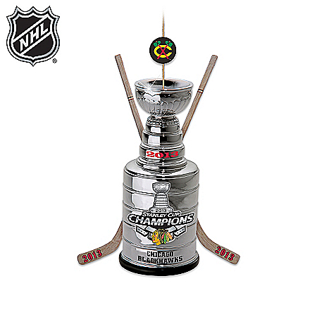 Officially-Licensed Chicago Blackhawks® NHL® Stanley Cup® Champs Ornament Collection