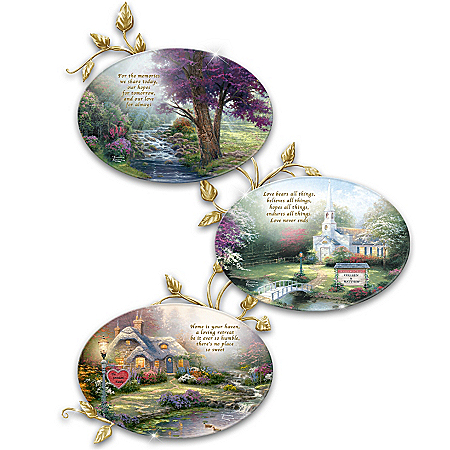Plates: Thomas Kinkade Happily Ever After Personalized Collector Plate Collection