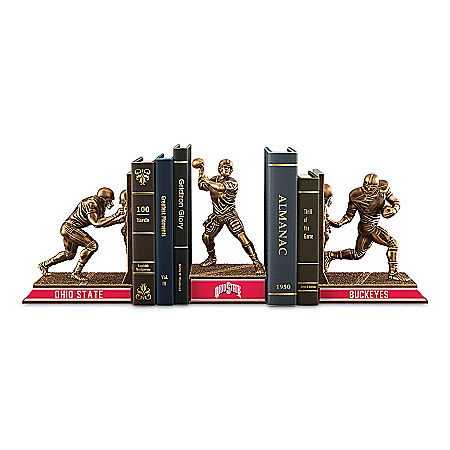 Ohio State Buckeyes Football Legacy Cold-Cast Bronze Bookends Collection
