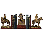 John Wayne - The Duke American Hero Cold-Cast Bronze Bookends Collection
