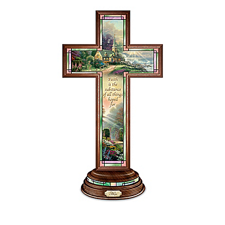 Thomas Kinkade Light Of Faith Illuminated Cross Collection