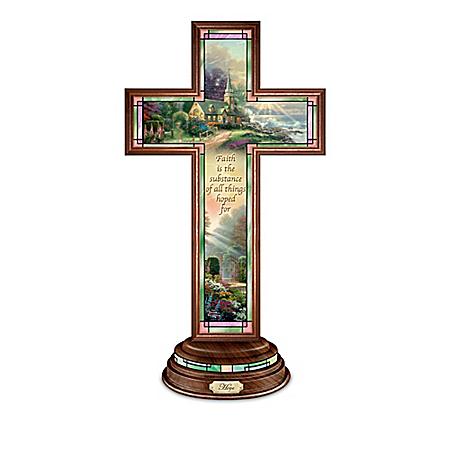 Thomas Kinkade Light Of Faith Illuminated Cross Collection