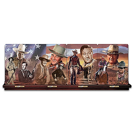 John Wayne Legend of the West Porcelain Plate Wall Decor Collection: 1 of 999