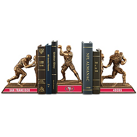Bookends: Limited Edition San Francisco 49ers Cold-Cast Bronze Legacy Bookends Collection