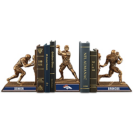 Bookends: Limited Edition Denver Broncos Cold-Cast Bronze Legacy Bookends Collection