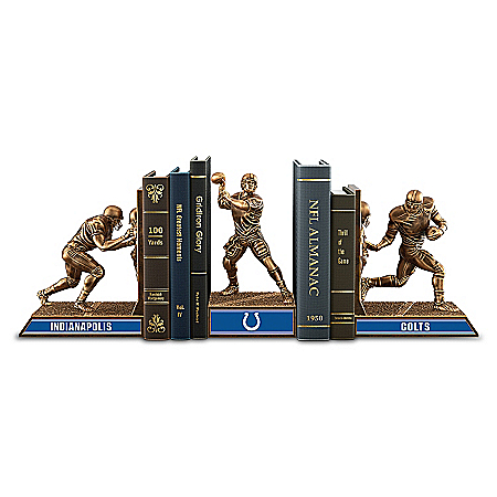 Bookends: Limited Edition Indianapolis Colts Cold-Cast Bronze Legacy Bookends Collection