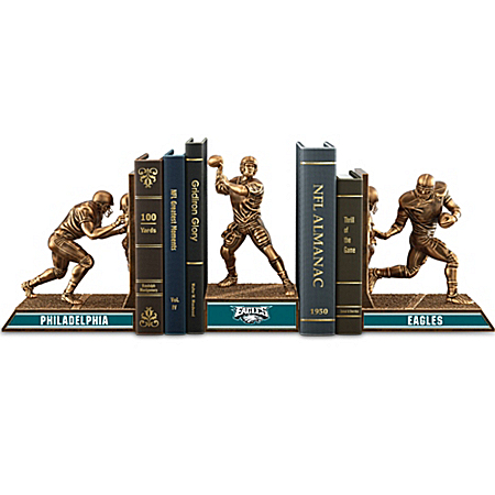 Bookends: Limited Edition Philadelphia Eagles Cold-Cast Bronze Legacy Bookends Collection