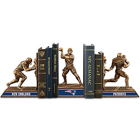 Bookends: Limited Edition New England Patriots Legacy Cold-Cast Bronze Bookends Collection