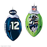 Ornaments: Seattle Seahawks FootBells Ornament Collection