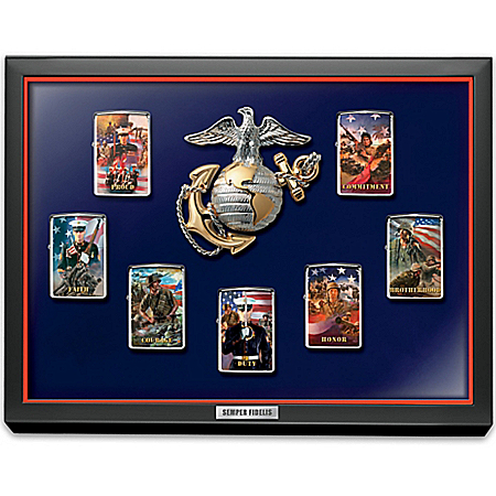Lighters: USMC Semper Fidelis Zippo® Windproof Lighter Collection