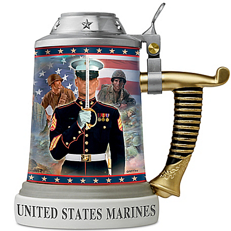 James Griffin And Glen Green USMC Pride Of The Marine Corps Stein Collection