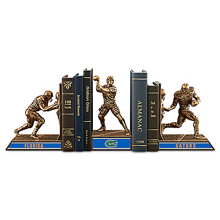 Florida Gators Football Legacy Cold-Cast Bronze Bookends Collection