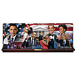 America's First Couple Barack And Michelle Obama Collector Plate