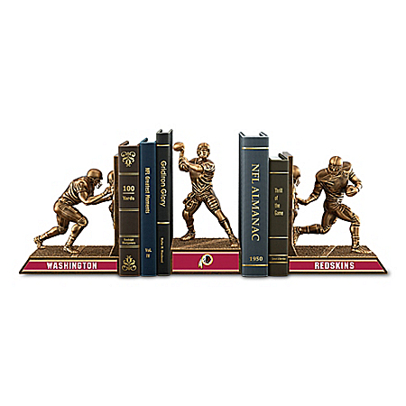 Bookends: Limited Edition Washington Redskins Cold-Cast Bronze Legacy Bookends Collection