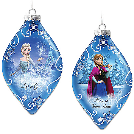 Disney FROZEN Christmas Tree Ornament Collection Premiering With Set One: Let It Go And Listen To Your Heart