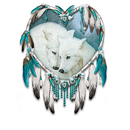 Dreamcatcher Wall Decor Collection with Wolf Art by Carol Cavalaris
