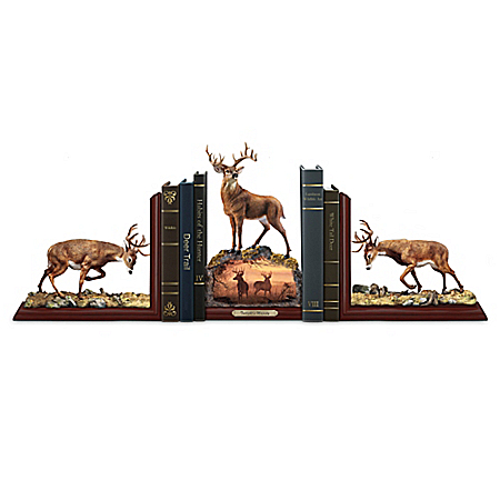 Twilight's Majesty Hayden Lambson Sculpted Deer Bookends Collection