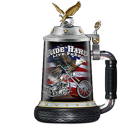American Spirit Heirloom Porcelain Motorcycle Stein Collection