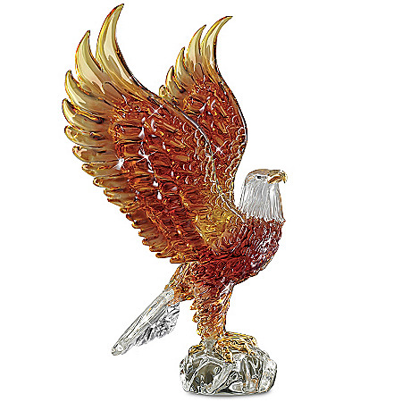 Majestic Reflections Art Glass Eagle Sculpture Collection
