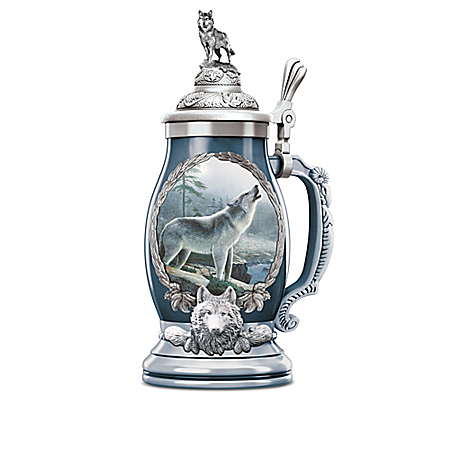 Majestic Visions Handcrafted Porcelain Stein Collection