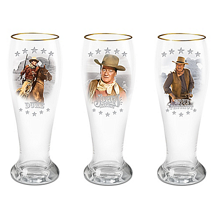 John Wayne Pilsner Beer Glass Collection