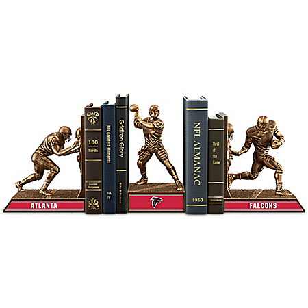 NFL Atlanta Falcons Cold-Cast Bronze Legacy Bookends Collection