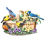 Nature's Songbook Touch-Activated Lifelike Musical Songbirds Sculpture Collection